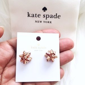 ♠️ Kate Spade Rose Gold Bourgeois Bow Studs